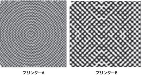 プリンターの違いによる解像結果の違い